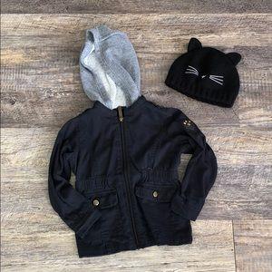 4/$25👧🏻 jacket & beanie bundle